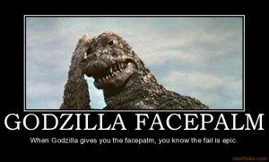 Even Godzilla knows he can't find a good job in VT.